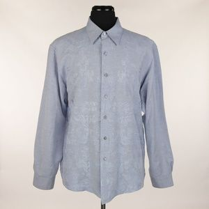 Robert Graham L/S Shirt Blue Embroidered XL